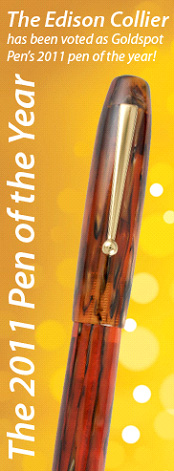 Edison Collier Fountain pen is Goldspot Readers Choice Pen of the Year 2011