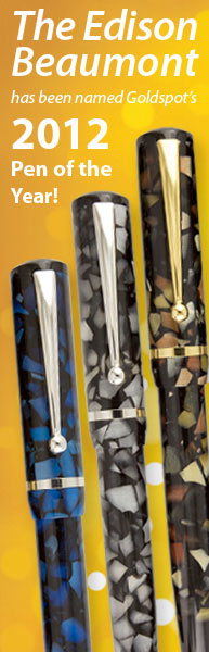 Edison Beaumont is Goldspot Pens Readers Choice 2012 Pen of the Year